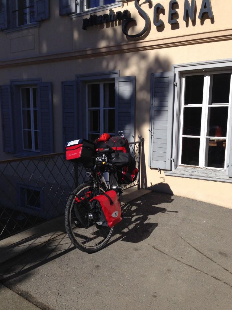 Minutes befor departure at Hotel Saratz in Pontresina