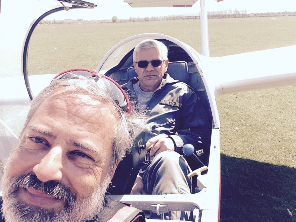 With Gratian on a IS28 of Deva Aeroclub