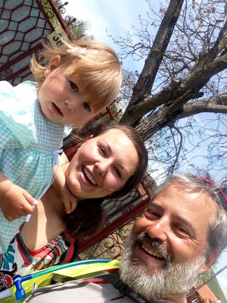 Hermosas ambas, Alina con su hijita.