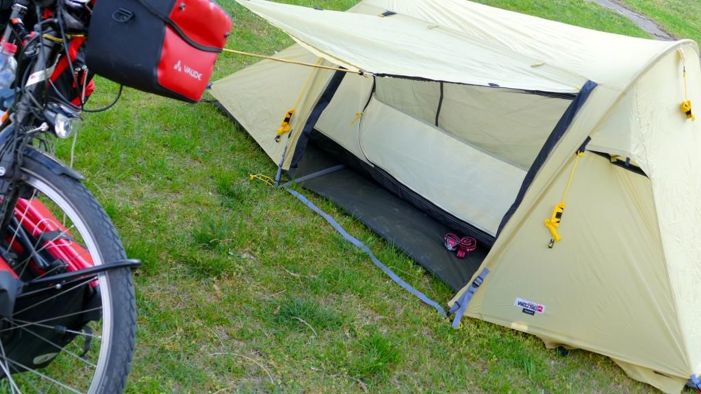 Zeltlager ist Aufgeschlagen.
