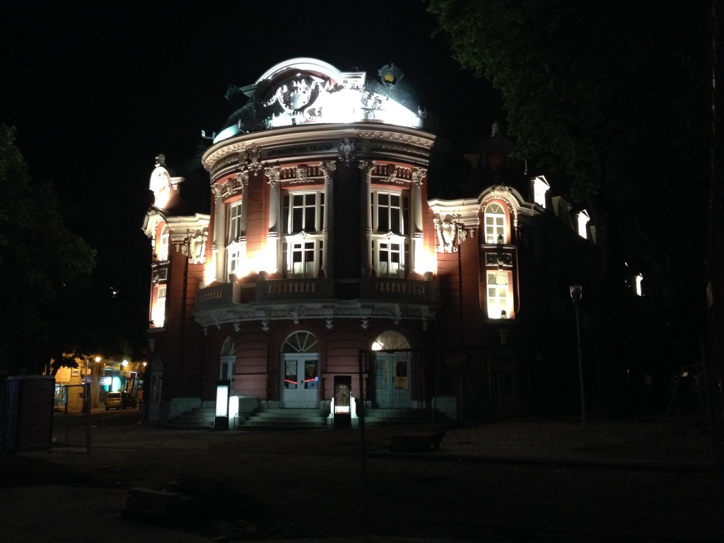 Varna Old Town - Theatre by night
