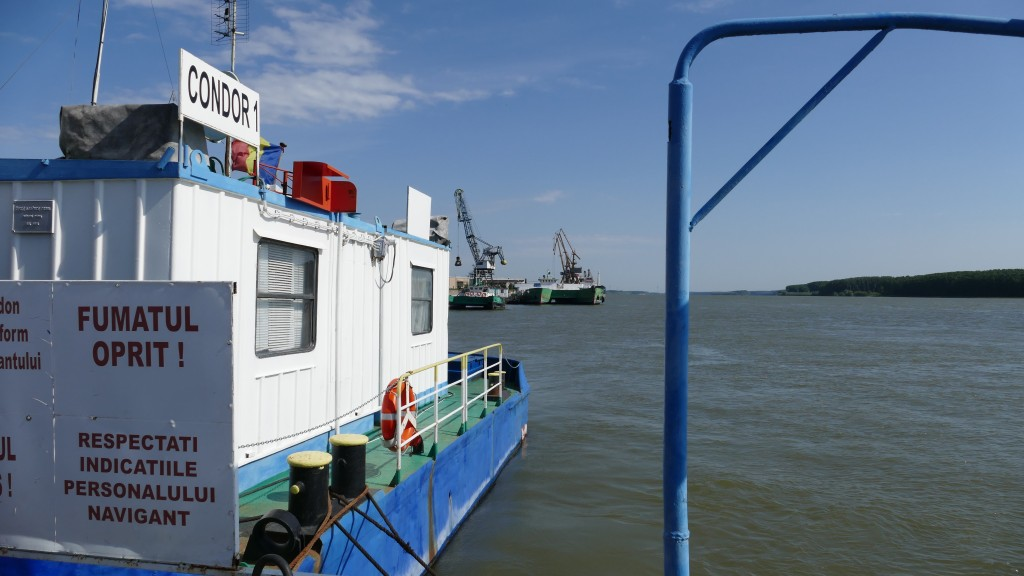 the ferry boat at Braila to cross the Danube