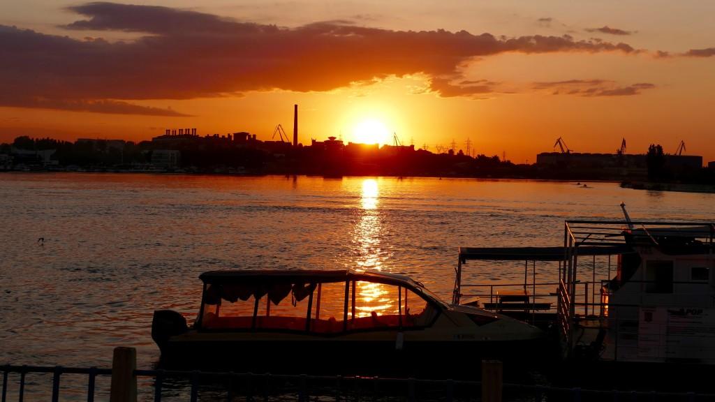 Sunset a t Tulcea