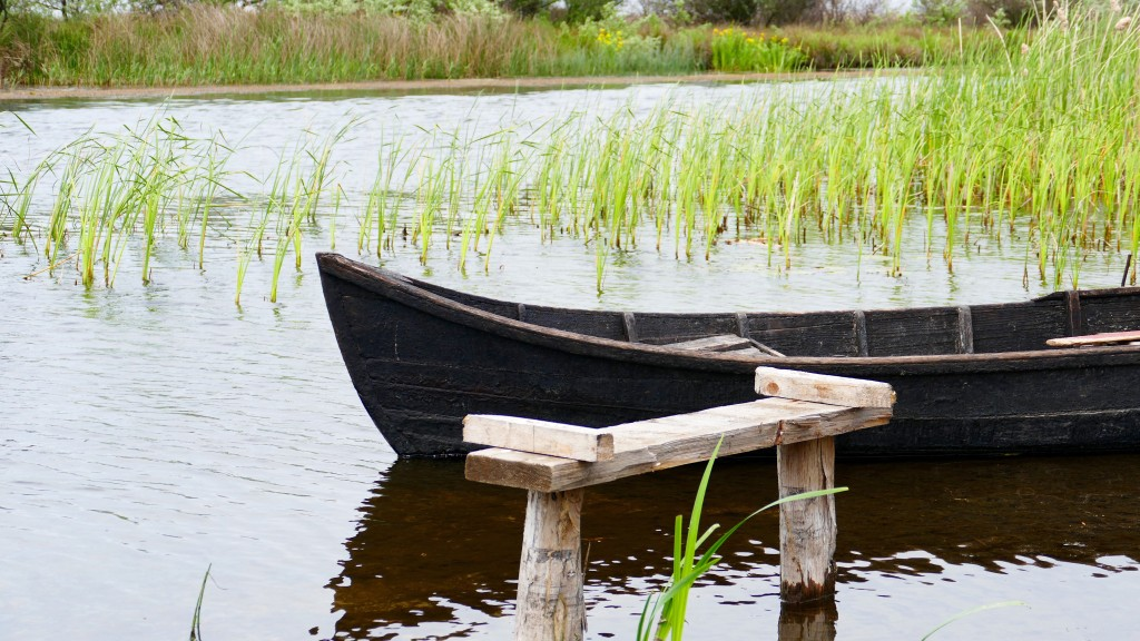 a Lipovan Boat at Danube Delta