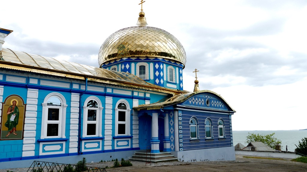 Sarichioi, a Lipovanian (former Russian immigrants) village and their Orthodox Basilica.