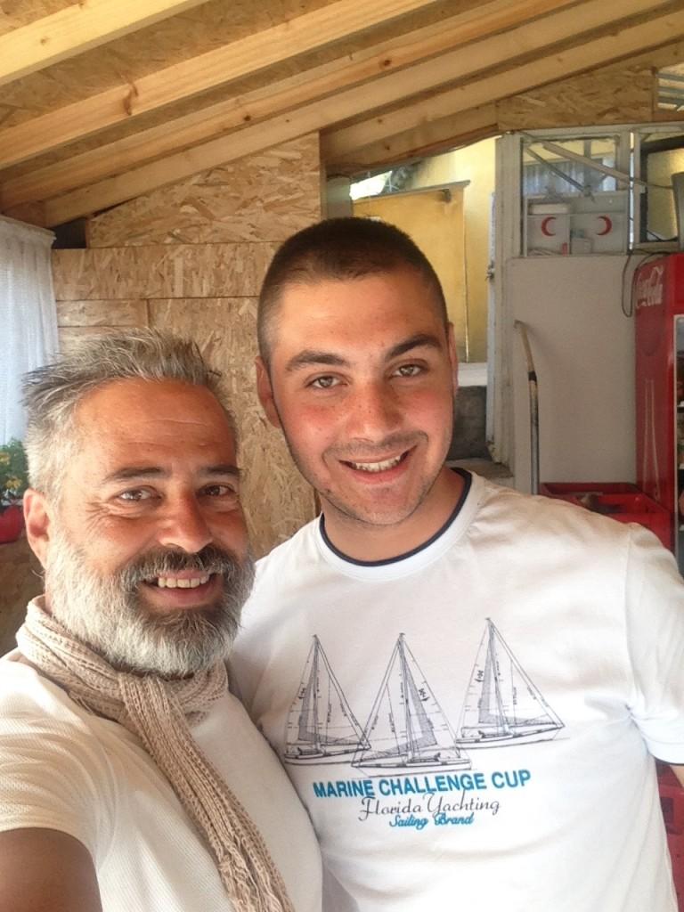 with Gökhan at their Restaurant