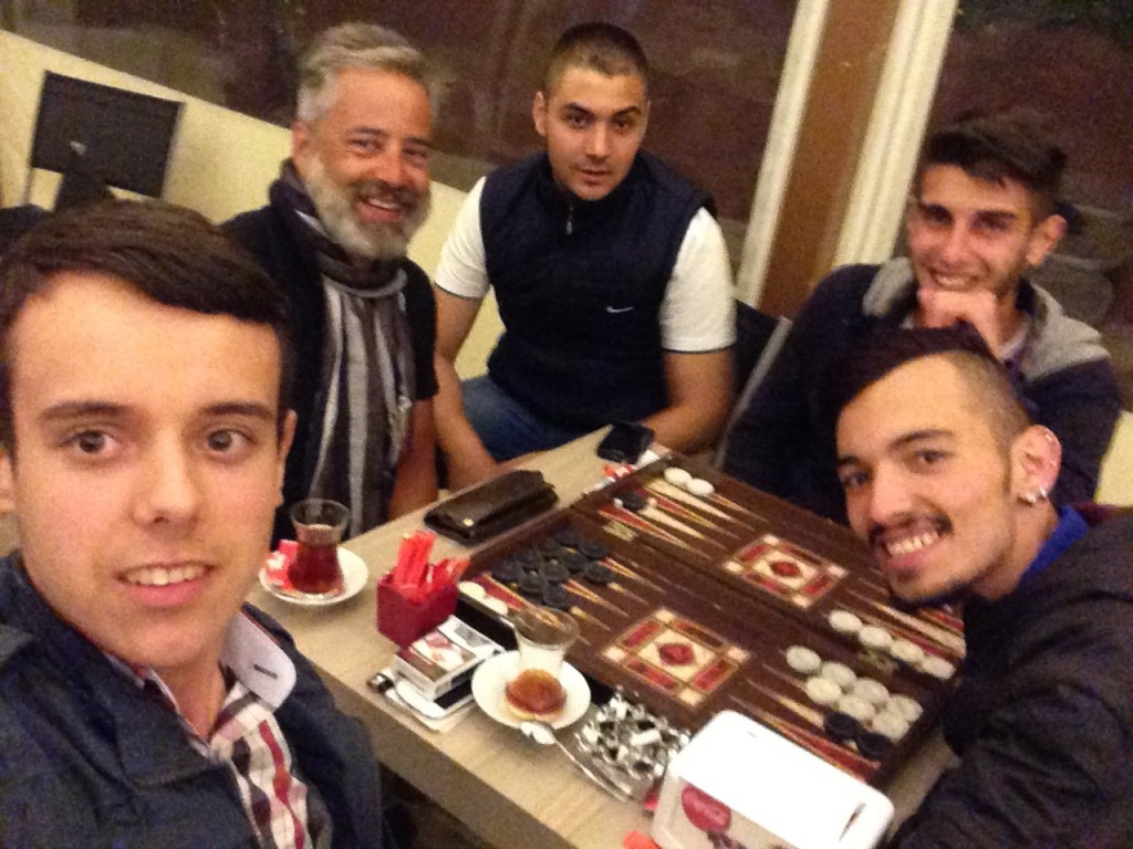 Backgammon night with lovely guys from Vize City.
