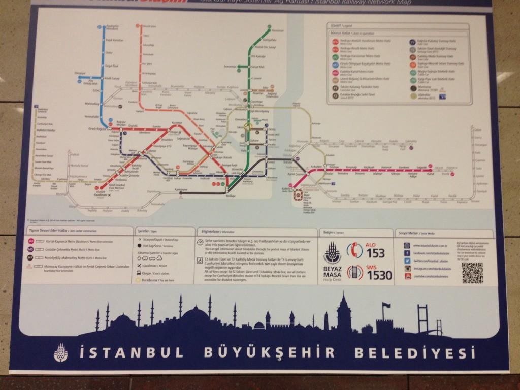 Underground network Istanbul