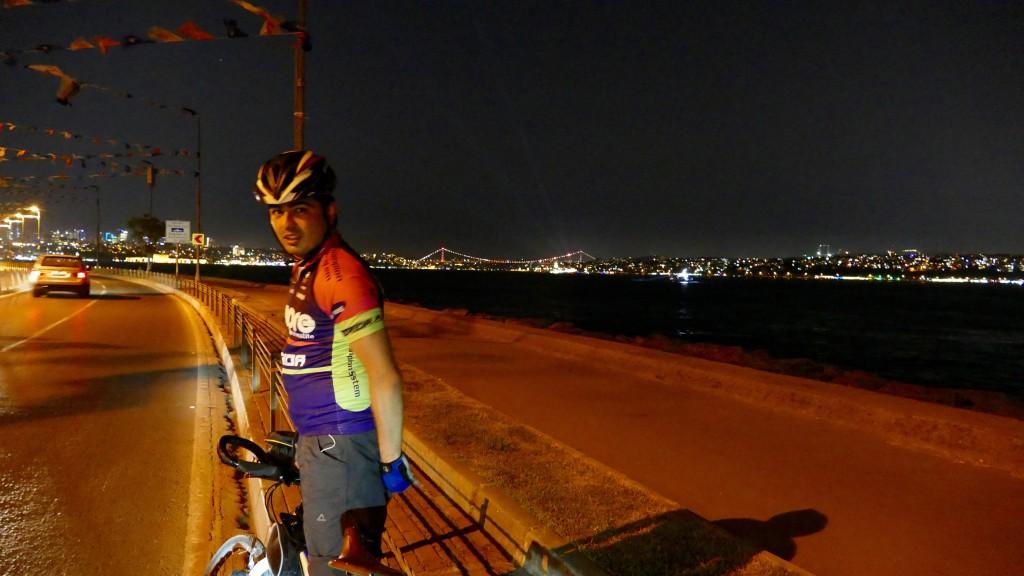 Yimaz, my leader last night in Istanbul city.