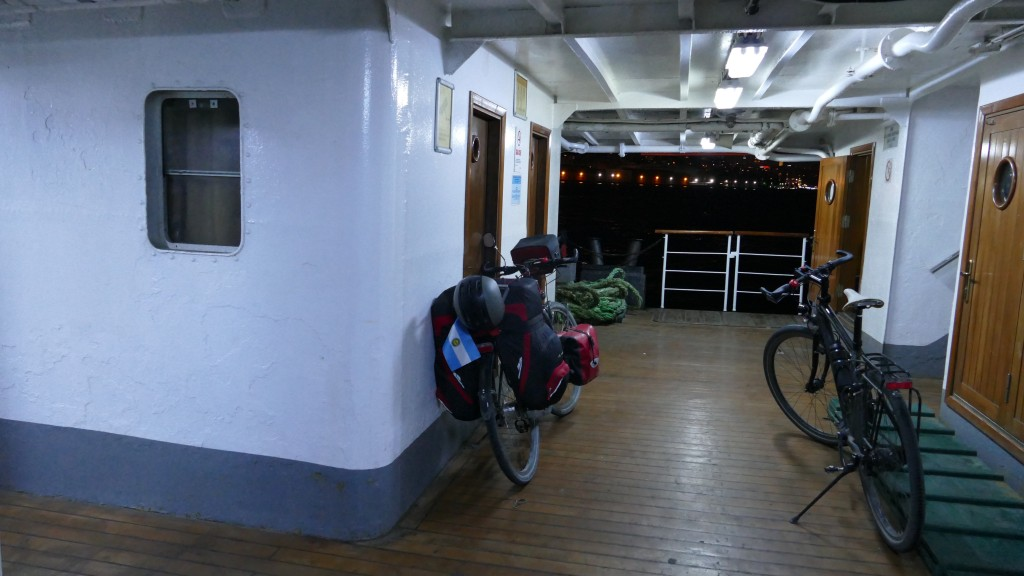 Onboard the Ferryboat, leaving Europe at 11 PM crossing the Bosphorus to Ist-  Kadiköy.