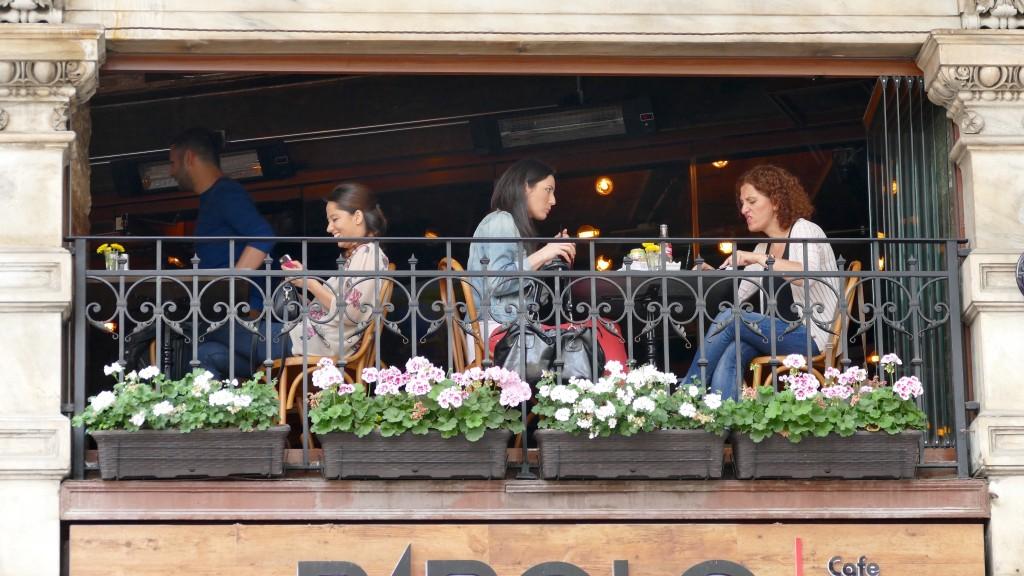 small-talking in a bar