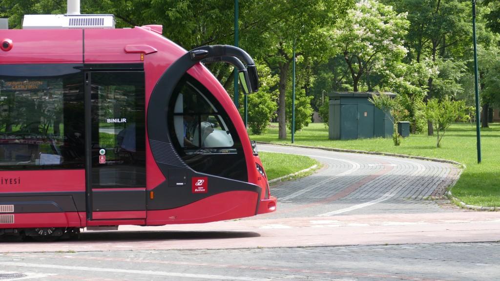 Tramway at Kültür Parki Bursa