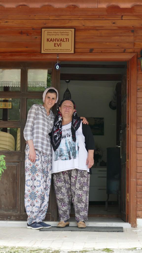 Gülsah and her Boss from Aksu Köyü Kadinlari Dayanişma Derneği