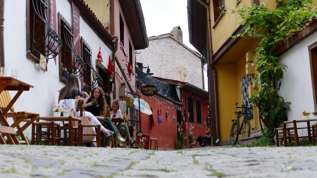 """Old houses in Odunpazarı (literally """"wood market"""" in Turkish), Oqdunpazari is a metropolitan district of Eskişehir"""