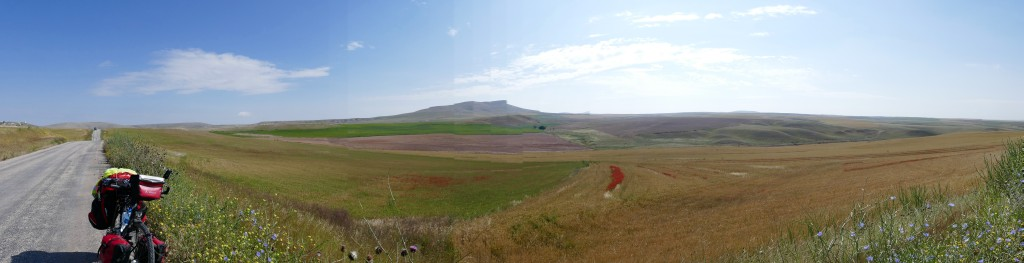 Panoramic view, after the little kurdish villa of Inler, Ankara.