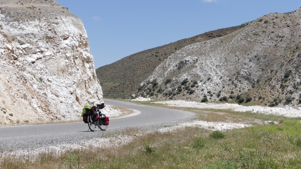The road between Sereflikochisar and Ortaköy. Tuffs-stone (Volcanic Stone) formations.