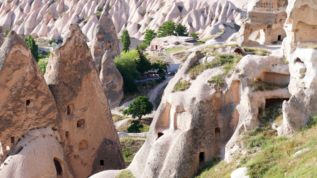 Cappadocia (Turkish: Kapadokya) is an area in Central Anatolia in Turkey best known for its unique moon-like landscape, underground cities, cave churches and houses carved in the rocks.