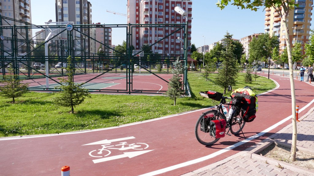 Cycle-roads in Kayseri city.