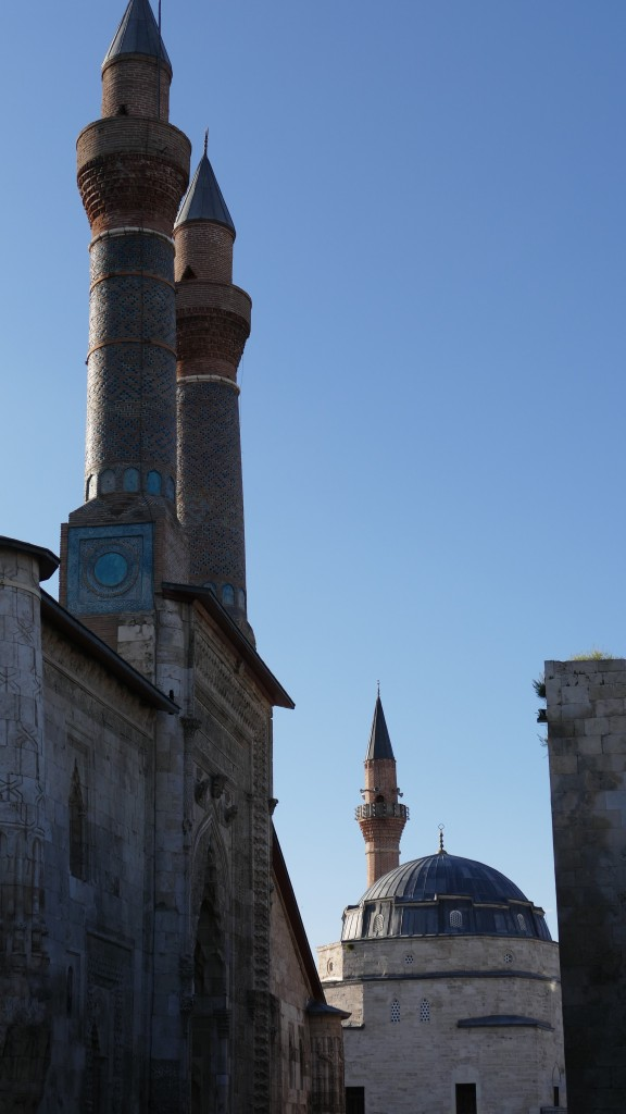 Madrassah with twin Minarets and the Castel Mosque - Old Town - SIVAS, Anatolia