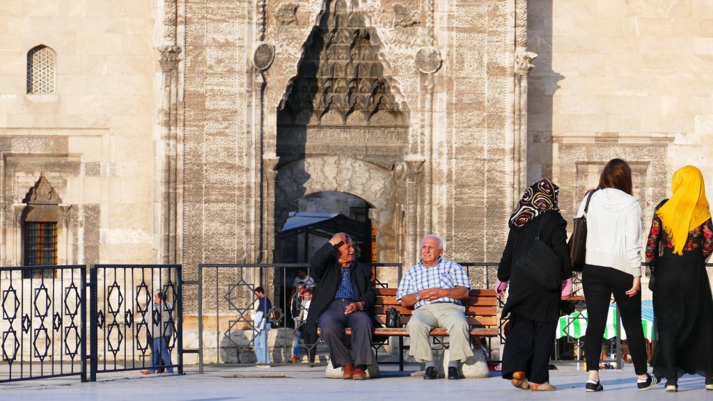 the Buruciye Madrassah in the background - Old Town - SIVAS, Anatolia