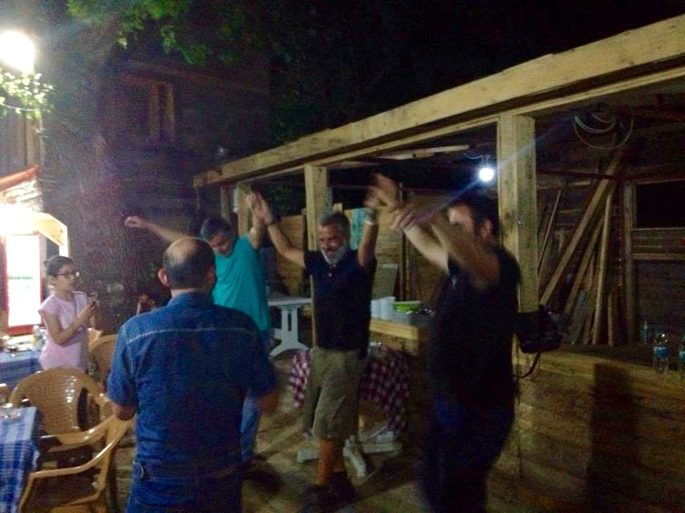 dancing folklore with Ahmed friends and family at Kesap.