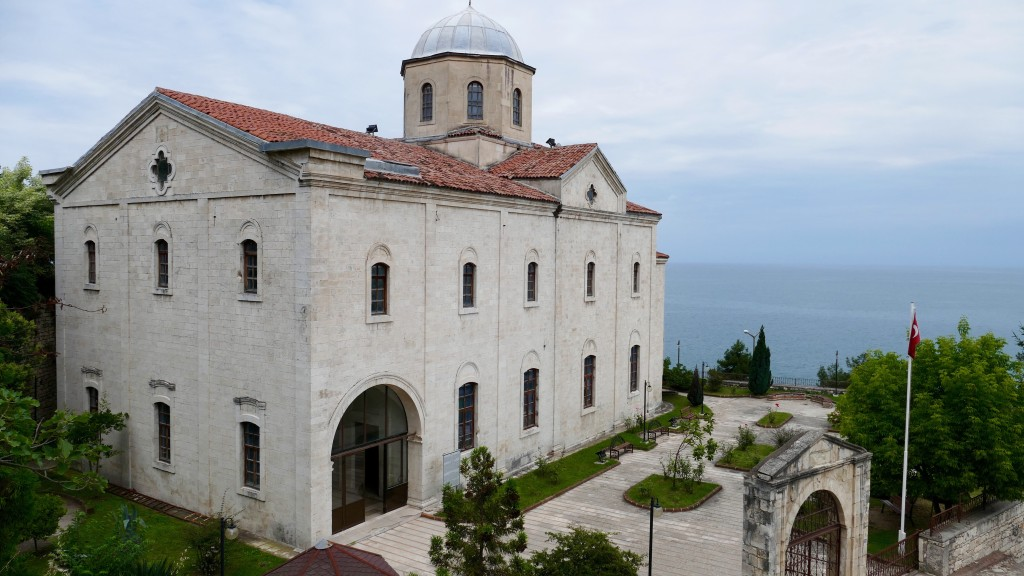 Taşbaşı Cultural Centre, former a Catholic Greek Orthodox Church.