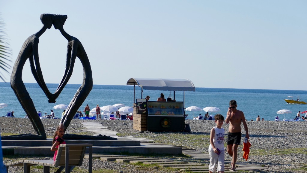 Batumi's beach from the Boulevard view