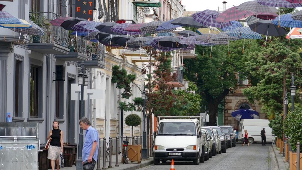 The umbrellas road in Batumi