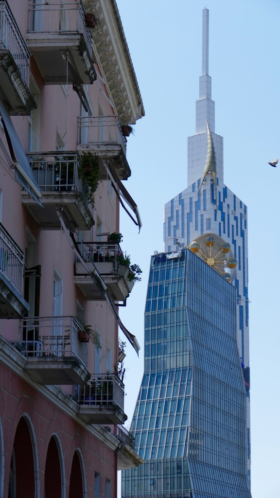 Old town Batumi and new buildings