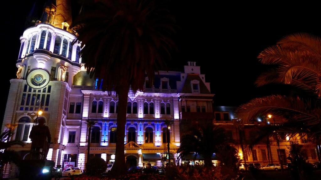 Batumi by night. Astronomic Clock House in Batumi
