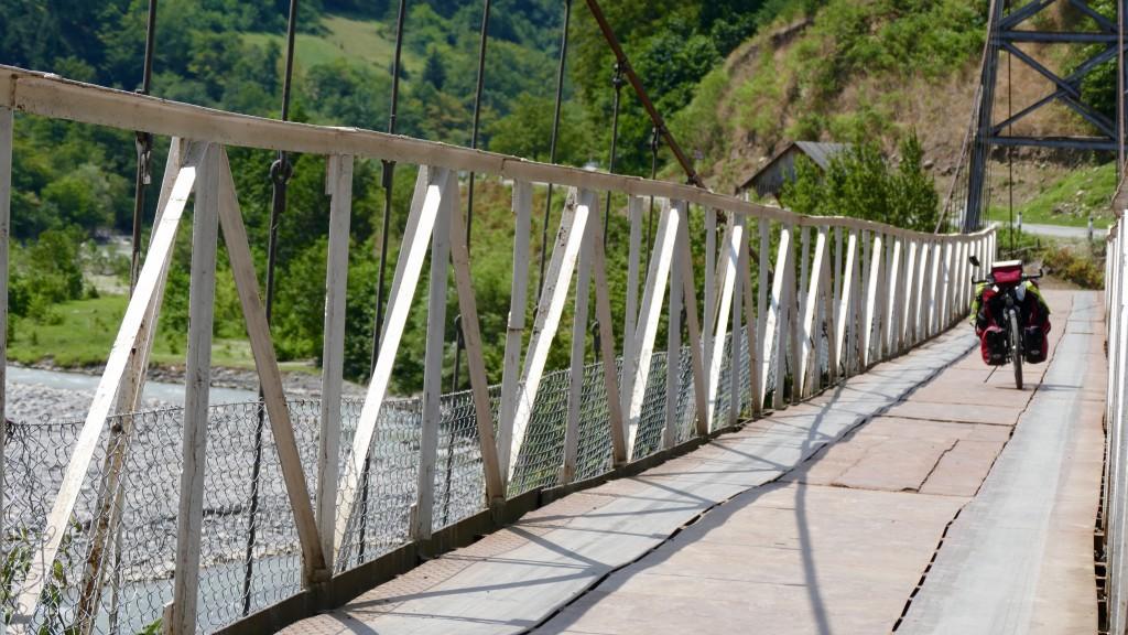 Hanging Bridge over the Acharistskali River