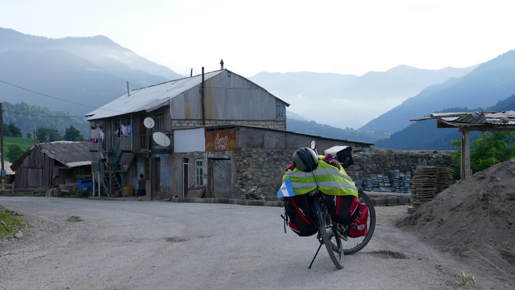 Leaving Khulo Village, Stream upward of the  valley of Adjaris-tsqali.