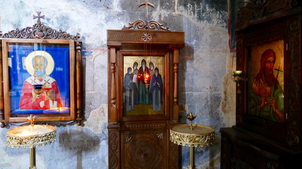 The Zarzma Monastery, interior and icons.