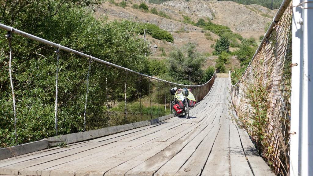 one of several bridges over the Kura River