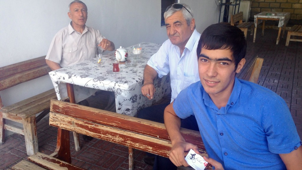 Azeris At Zaqatala, thank you for the small talk and delicious Çay offered.