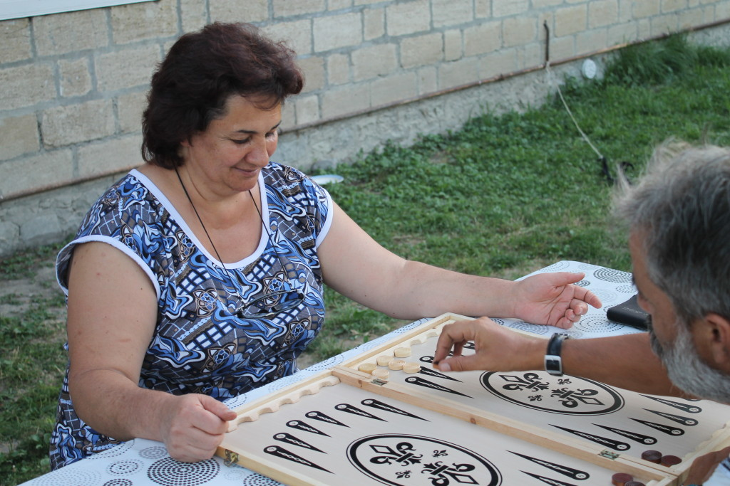 Backgammon, Tavla, seems to be called Nerd in Azerbaijan, and the rules are quite different.