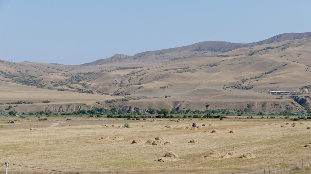 Steppe surrounding Gori city along the Mtkeva Valey