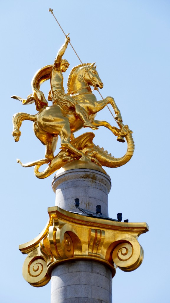 The St. George Statue on the Freedom Square in Tbilsi.