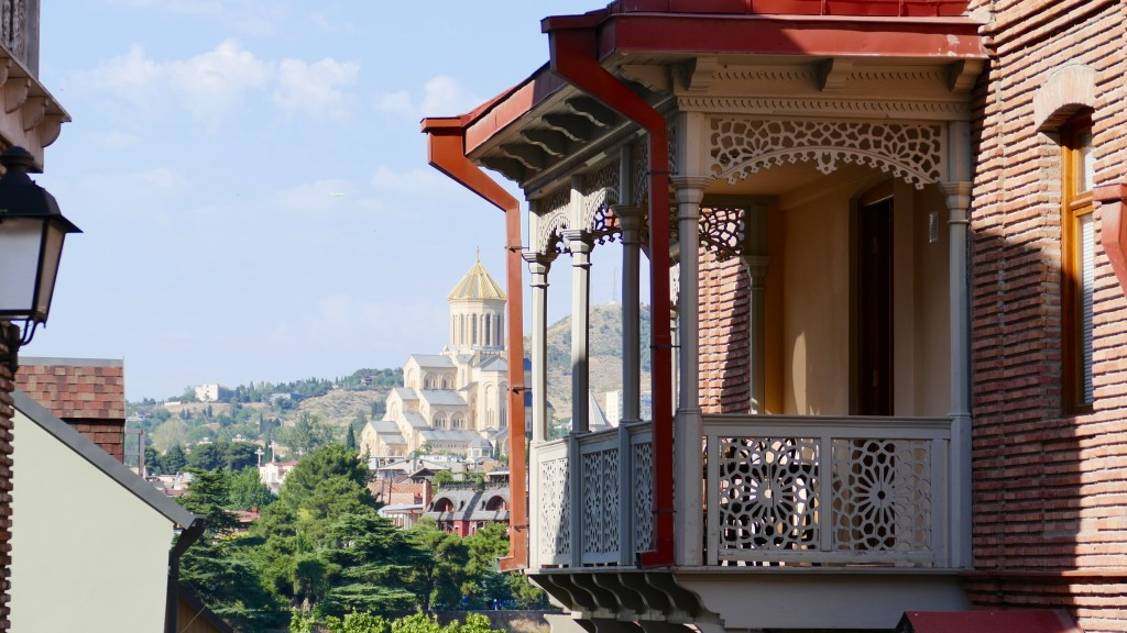 Balconies of Tbilisi and the Trinity Cathedral