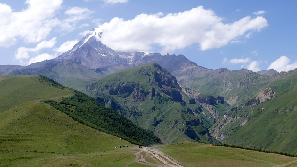"Mount Kazbek is associated in Georgian folklore with Amirani, the Georgian version of Prometheus, who was chained on the mountain in punishment for having stolen fire from the gods and having given it to mortals. The location of his imprisonment later became the site of an Orthodox hermitage located in a cave called ""Betlemi"" (Bethlehem) at around the 4000 meter level. According to legends, this cave housed many sacred relics, including Abraham's tent and the manger of the infant Jesus"