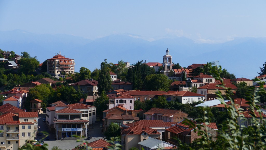 view of Sighnaghi, Kakheti Region