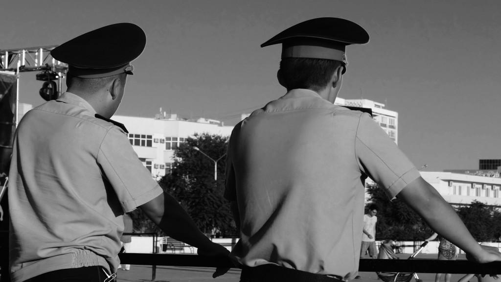 Kazakh Policemen.