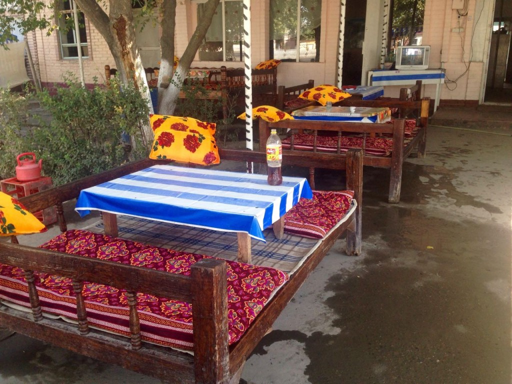 "The ""Tapcha"" is a mostly rectangular furniture. It's the Uzbeks table either to have a meal or just drink a tea."