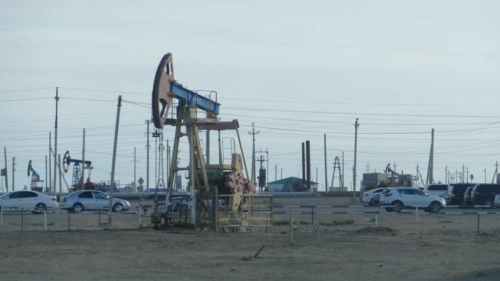 Oilfields in the Mangghystau Region. Kazakhstan