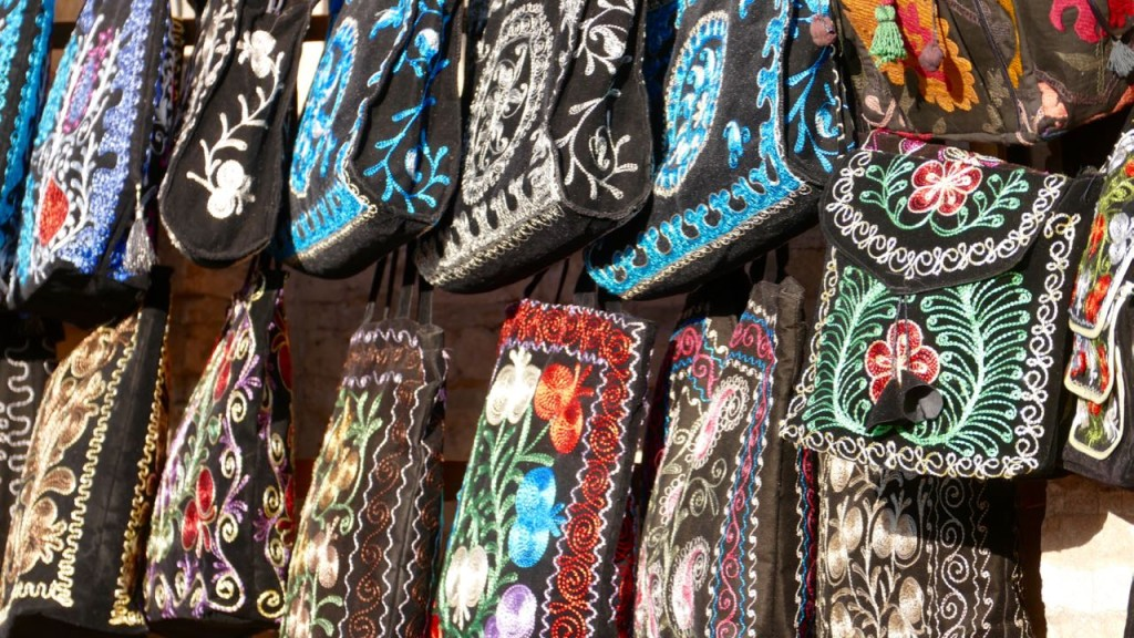 Silky bags in colourful Khiva
