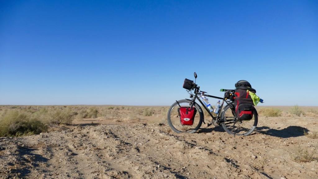 The Kyzyl Kum Desert in Uzbekistan
