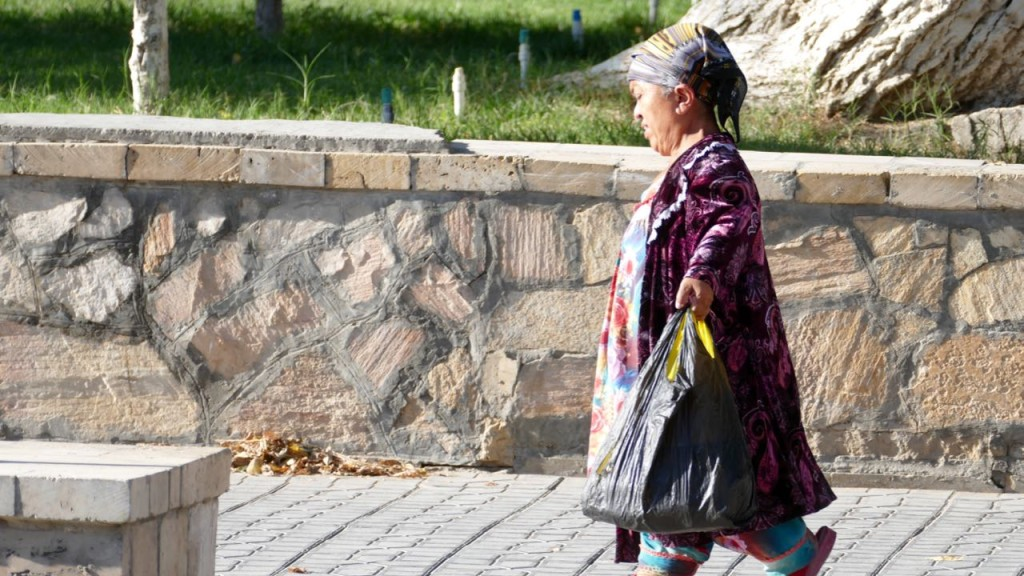 People from Bukhara. The little woman