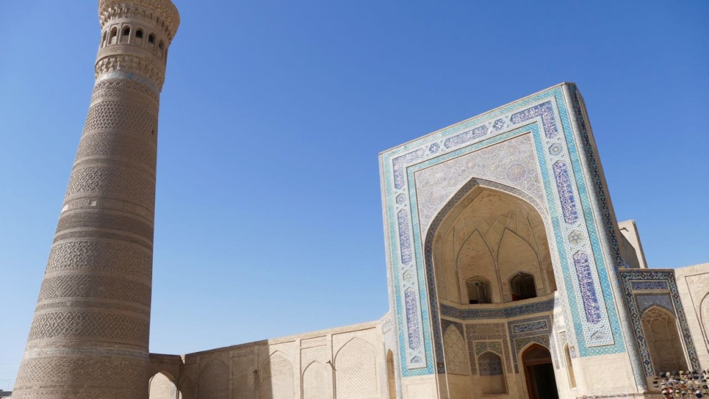 Kalyan Mosque minaret and Mir-I-Arab Madrassa,  Bukhara