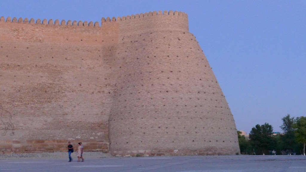 The walls of the ARK in Bukhara