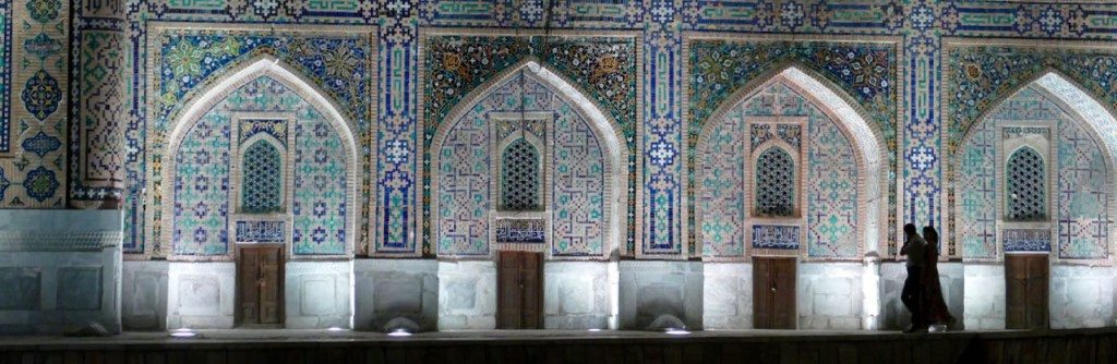 Two years later, the ruler of Samarkand Yalangtush Bahadur ordered to build the copy of the Madrassah, and the second Sher-Dor Madrassah was built opposite it. The only difference was that it had two more winter teaching halls, but the main structure was the same as in Ulugbek Madrassah.